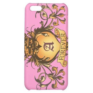 Guardian Heart Gold Monogram iPhone case iPhone 5C Cases