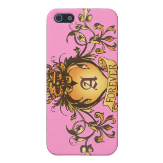 Guardian Heart Gold Monogram iPhone case Covers For iPhone 5