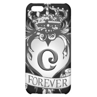 """Guardian Heart Silver Monogram """"C"""" iPhone case Case For iPhone 5C"""