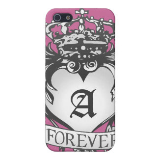 Guardian Heart Silver Monogram iPhone case Cover For iPhone 5