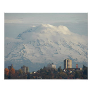 Guardian Mount Rainier Landscape Photo Poster