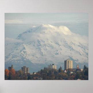 Guardian Mount Rainier Landscape Poster