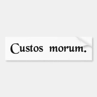 Guardian of morals car bumper sticker