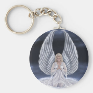 Guardian of Prayers Basic Round Button Keychain