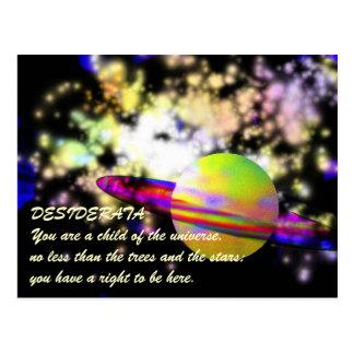 Guardian of the Galaxy DESIDERATA Postcard