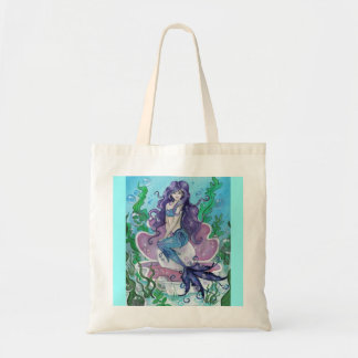 """Guardian of the Pearl"" mermaid fairy TOTE BAG"