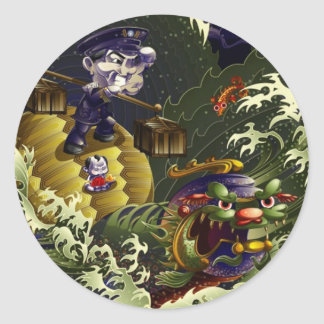 Guardian Of The South - Turtle Round Sticker
