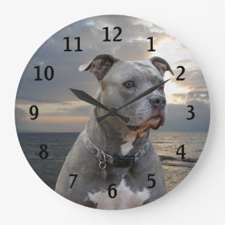Guardian Pitbull Wall Clock