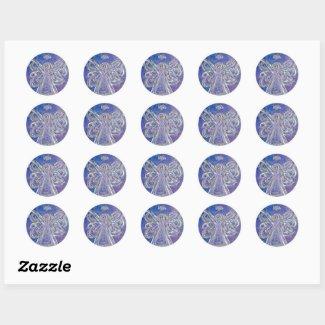 Guardian Purple Angel Art Custom Stickers