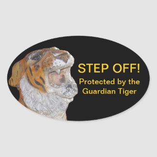 Guardian Tiger Oval Sticker