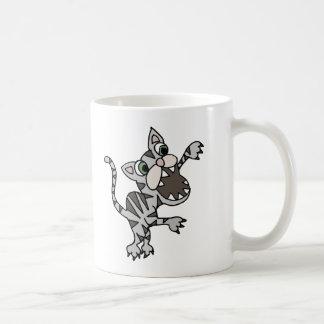 Guardian Watch Cat Cartoon Classic White Coffee Mug