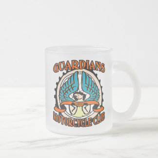 Guardians Motorcycle Club Frosted Glass Coffee Mug