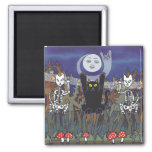 Guardians of a Haunted Forest 2 Inch Square Magnet