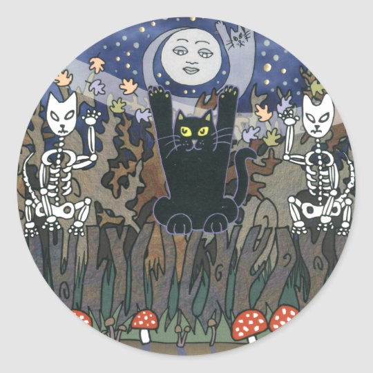 Guardians of a Haunted Forest Classic Round Sticker