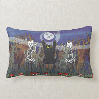 Guardians of a Haunted Forest Throw Pillows