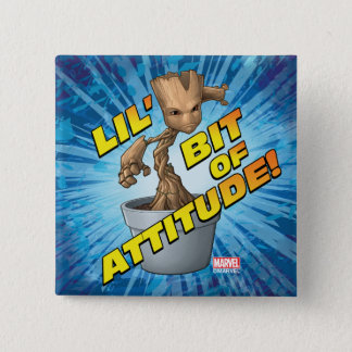 Guardians of the Galaxy | Baby Groot Attitude Pinback Button