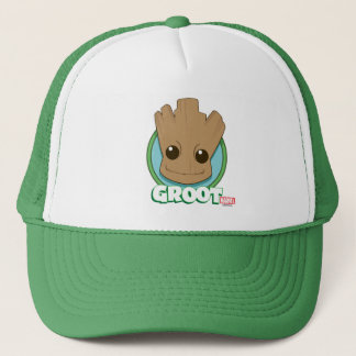 Guardians of the Galaxy   Baby Groot Face Trucker Hat