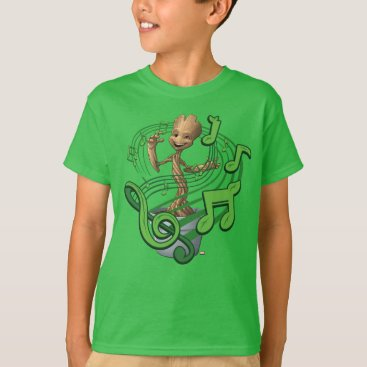 Toddler & Baby themed Guardians of the Galaxy | Baby Groot Music Notes T-Shirt