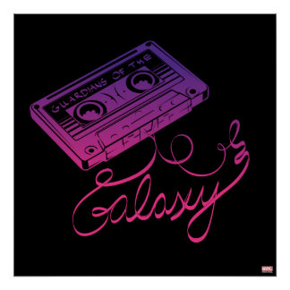 Guardians of the Galaxy   Cassette Tape Unraveled Poster
