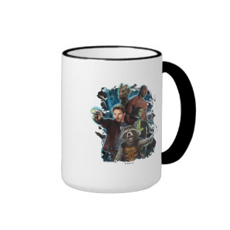 Guardians of the Galaxy Characters Concept Art Ringer Mug
