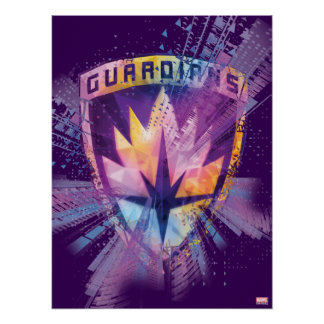 Guardians of the Galaxy | Crest Neon Burst Poster