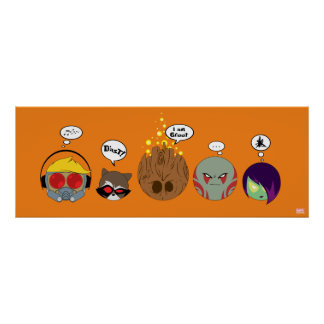 Guardians of the Galaxy | Crew Comic Emoji Art Poster