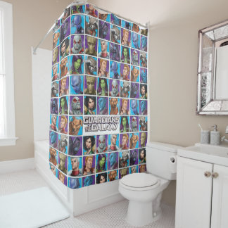 Guardians of the Galaxy | Crew Grid Shower Curtain