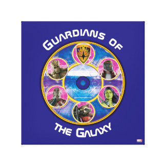 Guardians of the Galaxy   Crew In Neon Circles Canvas Print