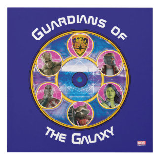 Guardians of the Galaxy   Crew In Neon Circles Panel Wall Art
