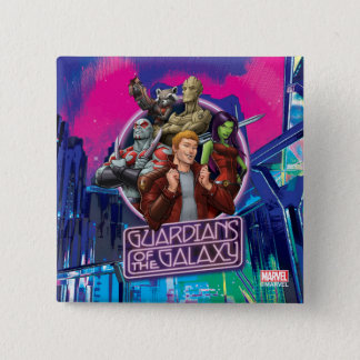 Guardians of the Galaxy | Crew Neon Sign Pinback Button