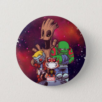 Guardians of the Galaxy | Crew On Asteroid Pinback Button