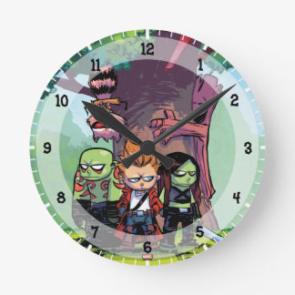 Guardians of the Galaxy   Crew & Treehouse Round Clock
