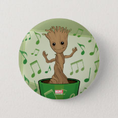 Guardians Of The Galaxy | Dancing Baby Groot Button at Zazzle