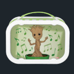 """Guardians of the Galaxy   Dancing Baby Groot Lunch Box<br><div class=""""desc"""">Check out Baby Groot dancing to the music in his little pot! Personalize your Baby Groot gear by clicking the customize button to get started! Add your own caption or name by adding text,  or resize the image to focus on your favorite part!</div>"""