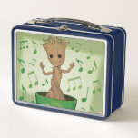 """Guardians of the Galaxy   Dancing Baby Groot Metal Lunch Box<br><div class=""""desc"""">Check out Baby Groot dancing to the music in his little pot! Personalize your Baby Groot gear by clicking the customize button to get started! Add your own caption or name by adding text,  or resize the image to focus on your favorite part!</div>"""