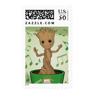 Guardians of the Galaxy   Dancing Baby Groot Postage