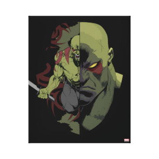 Guardians of the Galaxy | Drax Close-Up Graphic Canvas Print