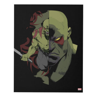 Guardians of the Galaxy | Drax Close-Up Graphic Panel Wall Art