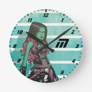 Guardians of the Galaxy | Gamora Mugshot Round Clock