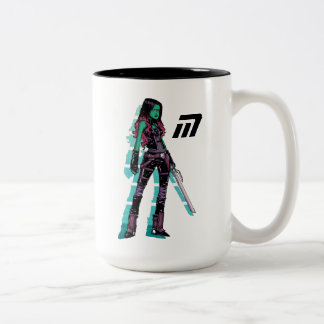 Guardians of the Galaxy   Gamora Mugshot Two-Tone Coffee Mug