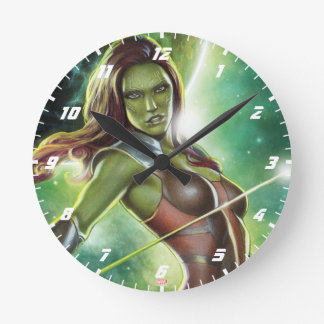 Guardians of the Galaxy | Gamora With Sword Round Clock