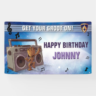Guardians of the Galaxy - Groot - Birthday Banner