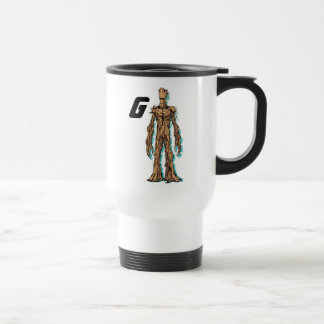 Guardians of the Galaxy   Groot Mugshot Travel Mug