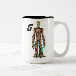 Guardians of the Galaxy   Groot Mugshot Two-Tone Coffee Mug