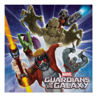 Guardians of the Galaxy | Group Attack Poster