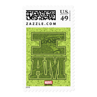 Guardians of the Galaxy | I Am Groot Typography Postage