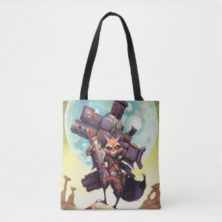 Guardians of the Galaxy | Rocket Armed & Ready Tote Bag