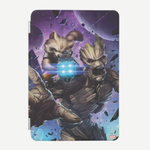 Guardians of the Galaxy | Rocket & Groot Attack iPad Mini Cover