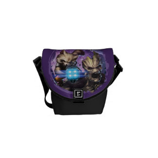 Guardians of the Galaxy | Rocket & Groot Attack Messenger Bag