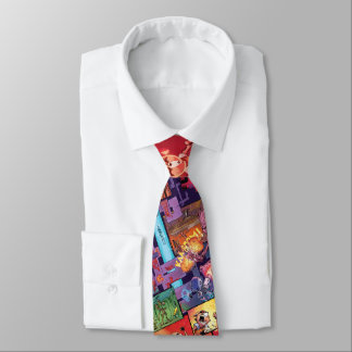 Guardians of the Galaxy | Rocket & Groot Pattern Neck Tie